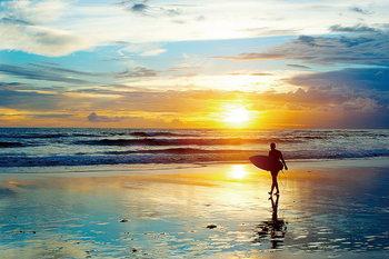 Cuadro en vidrio Surfing - Enthusiasm