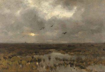 Cuadro en vidrio  The Marsh, Anton Mauve