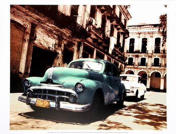 Cuban Cars II Festmény reprodukció