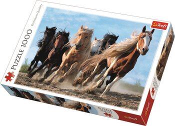 Puzzle Cválající koně
