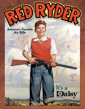 Daisy red Ryder Metalen Wandplaat
