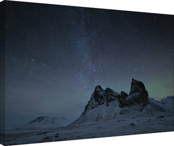Leinwand Poster David Clapp - Starry Night, Eystrahorn Mountains, Iceland