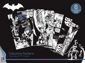 Vyfarbovacie plagát DC Comics - Batman