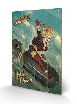 Bild auf Holz DC Comics: Bombshells - Harley Quinn Bomb