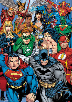 DC Comics - Collage Metallic plakat