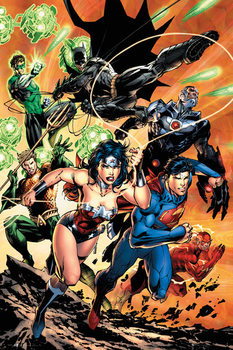 Αφίσα  DC Comics - Justice League Charge