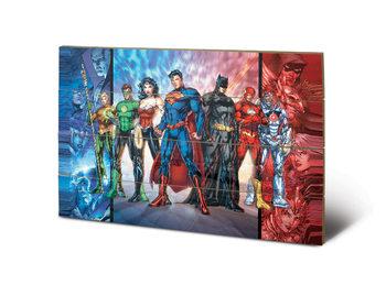 Målning på trä DC Comics - Justice League United