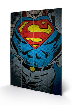 Poster su legno DC Comics - Superman Torso
