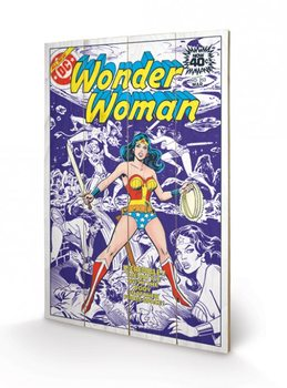 Poster su legno DC COMICS  wonder woman body snatcher from space