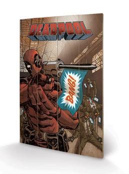 Målning på trä Deadpool - Bang