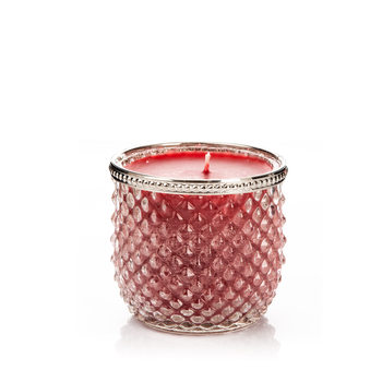 Candle in Glass-Cranberry+Cinnamon, Red Wide 9x Decoración de casa