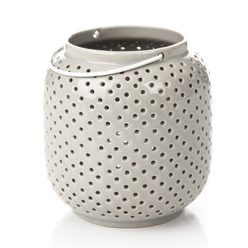 Lantern Holey, 14 cm Gray Decoración de casa