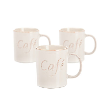 Mug Café 400 ml, set of 3 pcs Decoración de casa