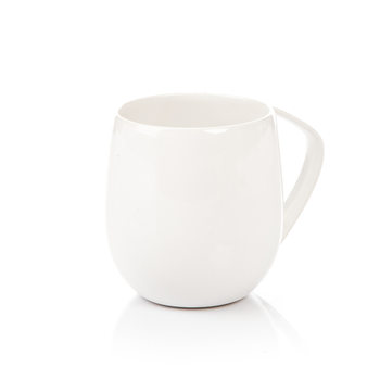 Mug Egg-Shaped White 300 ml Decoración de casa