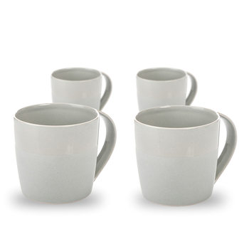 Mug Everyday, Light Grey Glazed/Matte 300 ml, set of 4 pcs Decoración de casa