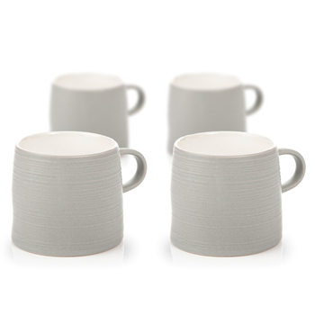 Mug Grainy Texture, 350 ml Light Gray, set of 4 pcs Decoración de casa