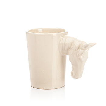 Mug with Horse Head Handle, 300 ml Decoración de casa