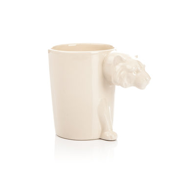 Mug with Tiger Head Handle, 300 ml Decoración de casa