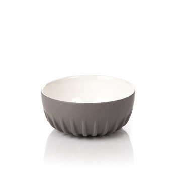Salad Bowl Ribbed, Dark Gray Decoración de casa