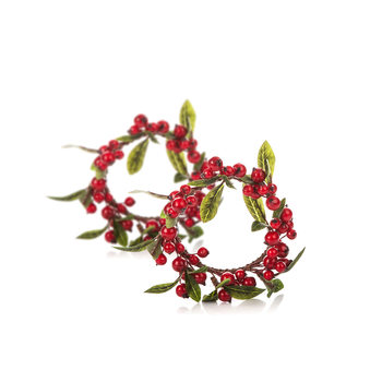 Wreath Berries, 8 cm, set of 2 pcs Decoración de casa