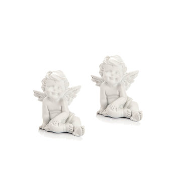 Angel Sitting, 5 cm, set of 2 pcs Decorazione per la casa