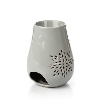 Aroma Lamp Sunflower, 13 cm Light Gray Decorazione per la casa