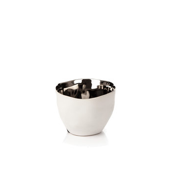 Candle Holder for Tealight Candles, 10 cm Chrome Decorazione per la casa