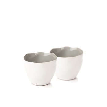Candle Holder for Tealight Candles, 10 cm Matte White, set of 2 pcs Decorazione per la casa