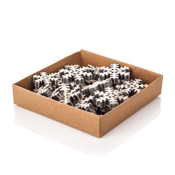 Christmas Box Decorative Snowflake, Various Sizes Decorazione per la casa