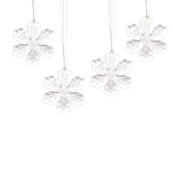 Christmas Snowflake Decoration, 10,5 cm, set of 4 pcs Decorazione per la casa