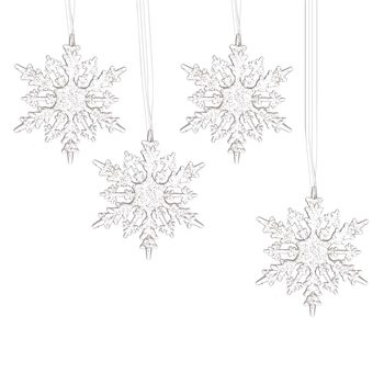 Christmas Snowflake Decoration, 16 cm, set of 4 pcs Decorazione per la casa