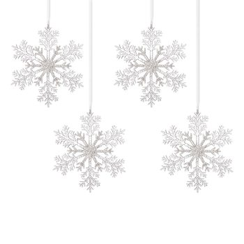 Christmas Snowflake Decoration, 25 cm, set of 4 pcs Decorazione per la casa
