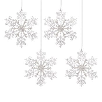 Christmas Snowflake Decoration, 30 cm, set of 4 pcs Decorazione per la casa