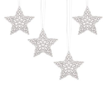 Christmas Star Decorations, 12,5 cm, set of 4 pcs Decorazione per la casa