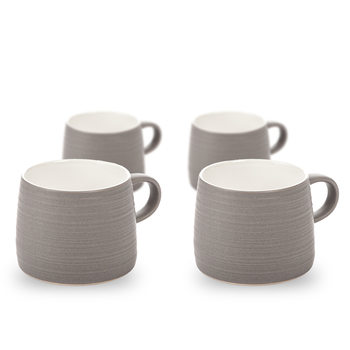 Mug Grainy Texture, 300 ml Dark Gray, set of 4 pcs Decorazione per la casa