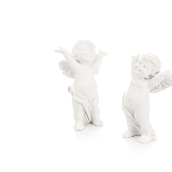 Angel with Hands Behind Head, 8 cm, set of 2 pcs Dekoracje wnętrz