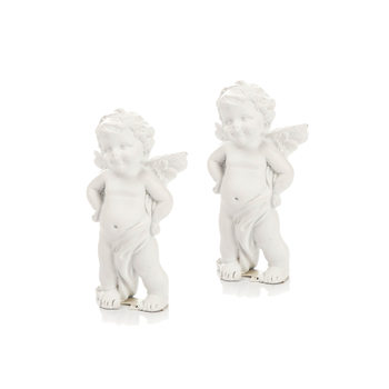 Angel with Hands on Hips, 8 cm, set of 2 pcs Dekoracje wnętrz