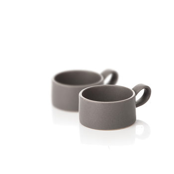 Candle Holder for Tealight Candles, 7,5 cm Dark Gray, set of 2 pcs Dekoracje wnętrz