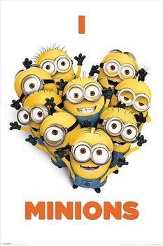 DESPICABLE ME 2 - i love minions - плакат (poster)