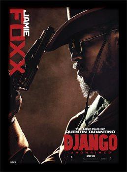 Django elszabadul - Jamie Fox üveg keretes plakát