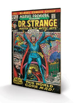 Målning på trä Doctor Strange - This World Gone Mad