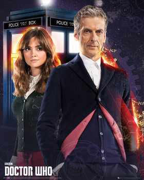 Doctor Who - Doctor and Clara - плакат (poster)