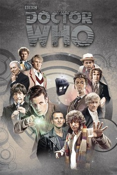 DOCTOR WHO - doctors through time - плакат (poster)