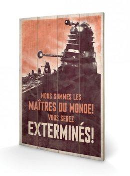 Doctor Who - Ki vagy, doki? - Extermines plakát fatáblán