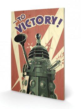 Doctor Who - Ki vagy, doki? - Victory plakát fatáblán
