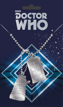 Ταμπελάκι σκύλου Doctor Who - Tardis and Dalek