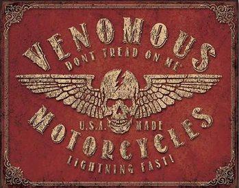 Don't Tread On Me - Venomous Motorcycles Plaque métal décorée