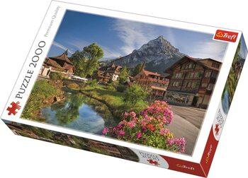 Puzzle Alpy v létě