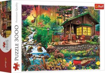 Puzzle Chata v lesích