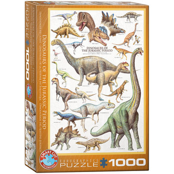 Puzzle Dinosaurs of Jurassic Period